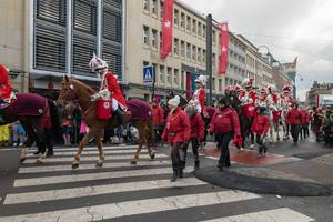 Schön gekleidet und zu Pferd - Kölner Karneval 2018