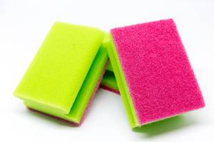 Scouring pads on white Background