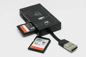 SD card inserted in card reader