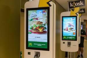Self-Service-Kiosk in einem McDonald