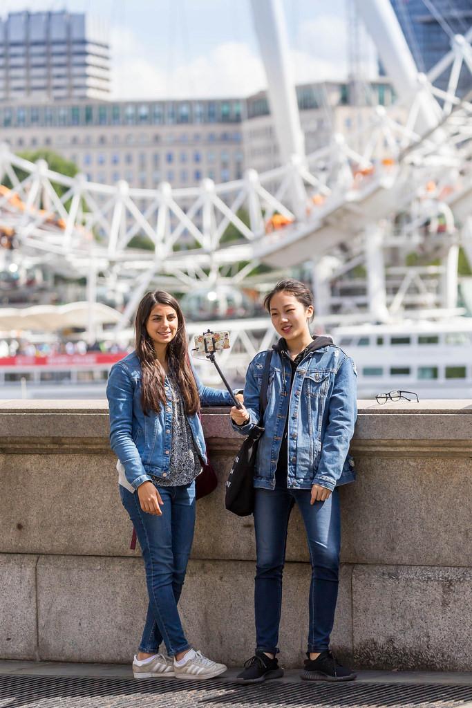 Selfie in Front of London Eye
