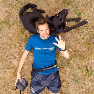 Selfie mit meinem Hund aufgenommen mit einer DJI Mavic Air Drohne
