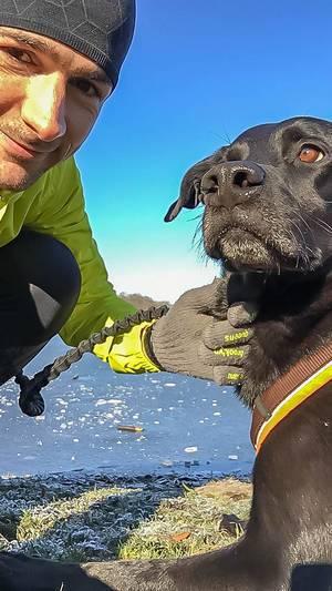 Selfie mit meinem Hund