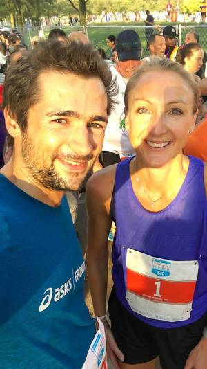 Selfie mit Paula Radcliffe