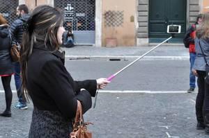 Selfie Stick in Rom