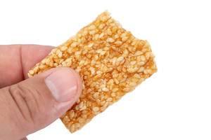Sesame Crisp Board in the hand