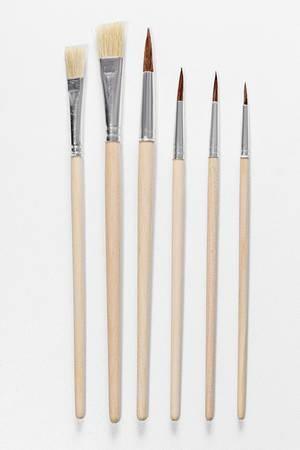 Set paint brushes on white background (Flip 2019)