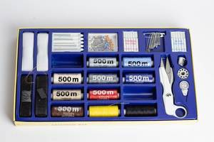 Sewing kit in a box