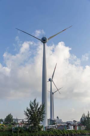 Seychelleninsel ist umweltfreundlich und nutzt Windkrafträder gegen die Ölabhängigkeit