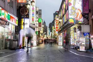 Shinjuku Shopping Streets at Night