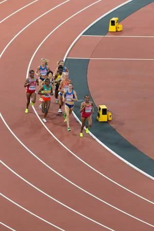 Shitaye Eshete, Molly Huddle und weiter 10.000-Meter-Läuferinnen bei den  IAAF Leichtathletik-Weltmeisterschaften 2017 in London