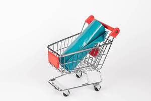 Shopping cart with plastic bags  Flip 2019
