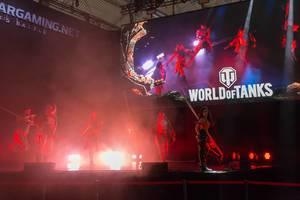 Show auf der Bühne von World of Thanks auf der Gamescom