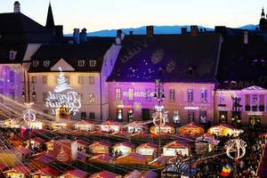 Sibiu Christmas market, view from above (Flip 2019)