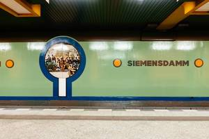 Siemensdamm subway (U-Bahn) station in Berlin