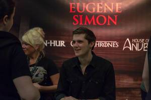 Signing session with Eugene Simon