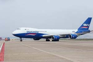 Silkway Boeing-B747 am Amsterdam Schiphol Flughafen