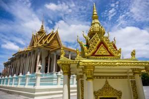 Silver Pagoda des köiglichen Palastes in Phnom Penh