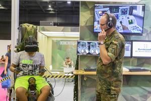 Simulationsspiel von der deutschen Bundeswehr auf der Gamescom 2019