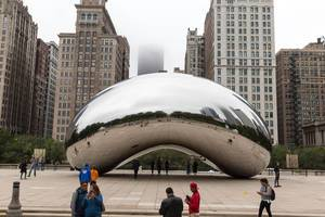 Skulptur Cloud Gate in Chicago