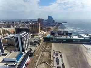 Skyline von Atlantic City (Drohnenfoto), USA