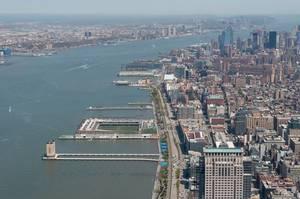 Skyline von Jersey City (Drohnenfoto), USA
