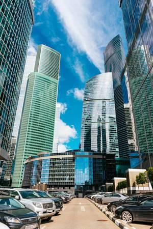 Skyscrapers of Moscow city / Wolkenkratzer der Moskauer Stadt
