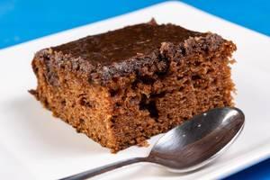 Slice of Chocolate Cake on the plate (Flip 2019)