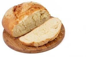 Sliced Corn Bread above white background (Flip 2019)