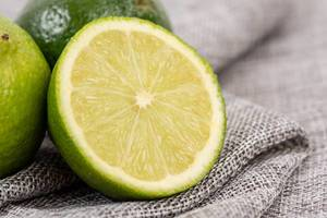 Sliced Fresh Green Limes closeup image (Flip 2019) (Flip 2019)