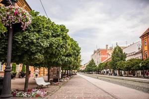 Slovakia City View, Kosice. Main Street.