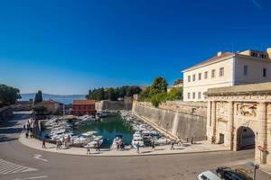 Small harbor Fosa in Zadar, Croatia