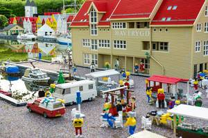 Small lego market in the city