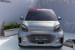 Smart electric vehicle: city car EQ ForTwo