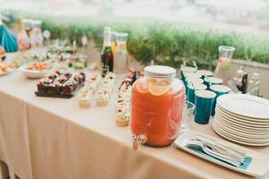 Snacks And Drinks On The Banquet Table (Flip 2019)