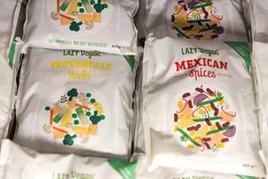 Snacks von Lazy Vegan in Geschmacksrichtungen Provencale Herbs und Mexican Spices