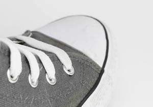 Sneaker laces closeup