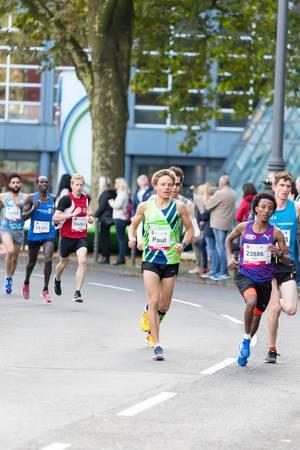 Snehotta Paul, Tsgay Dani, Kogei Stanley und Oubaha Idriss - Köln Marathon 2017