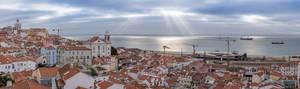 Sonnenaufgang in Lissabon