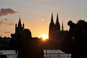 Sonnenuntergang in Köln