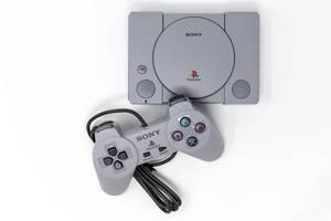 Sony Playstation Mini Classic Konsole in der Aufsicht
