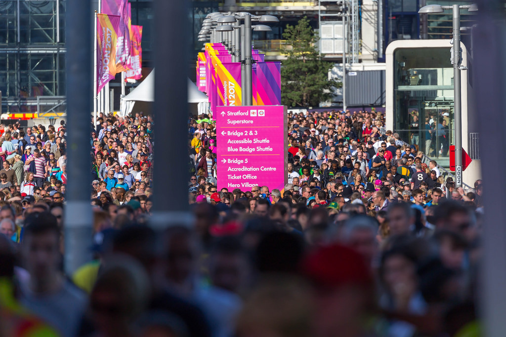 Spectators of the IAAF World Championships in London 2017