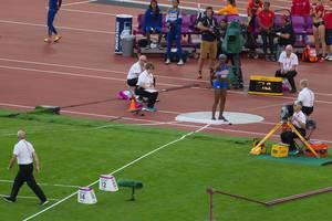 Speerwerferin Yorgelis Rodriguez bei den IAAF Leichtathletik-Weltmeisterschaften 2017 in London