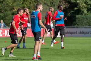 Spieler des 1. FC Köln beim Training am 12.09.2018