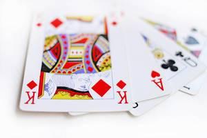 Spielkarten: Straße As, König, Dame, Bube
