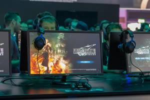 Spielvorstellung von Final Fantasy VII Remake auf der Gamescom in Köln
