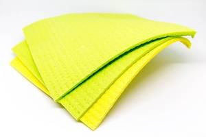 Sponge cloths on white background