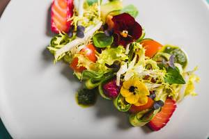 Spring Salad With Salmon, Cucumber And Tomatoes (Flip 2020)