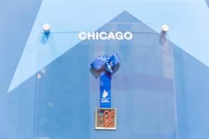 Square Chicago Marathon medal