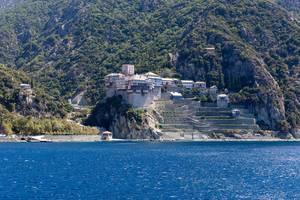 St Denys Monastery on Athos, Greece
